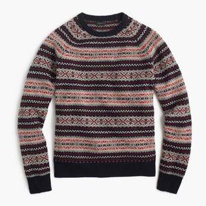 J. Crew fair isle lambs wool crew neck sweater